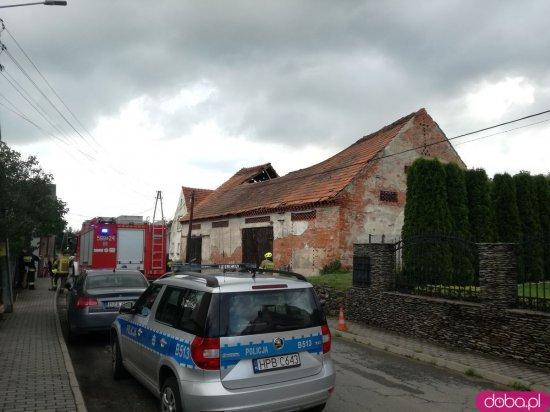 Zawalił się dach stodoły w Kamieńcu