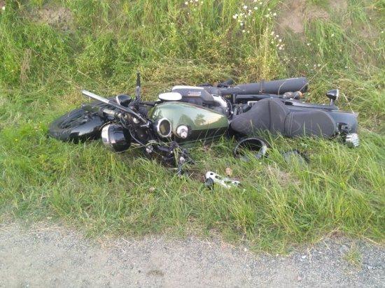 Zderzenie motocykla i osobówki skrzyżowaniu drogi na Tarnów i dk8