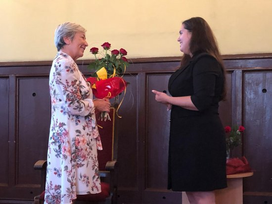 Sylwia Winnik na spotkaniu autorskim w Ząbkowicach Śląskich