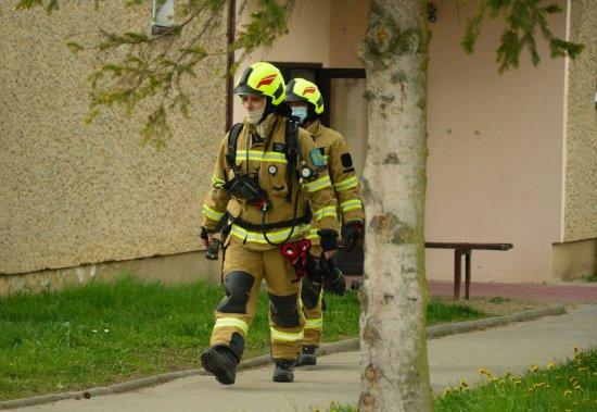 Pożar na balkonie w Kamieńcu Ząbkowickim