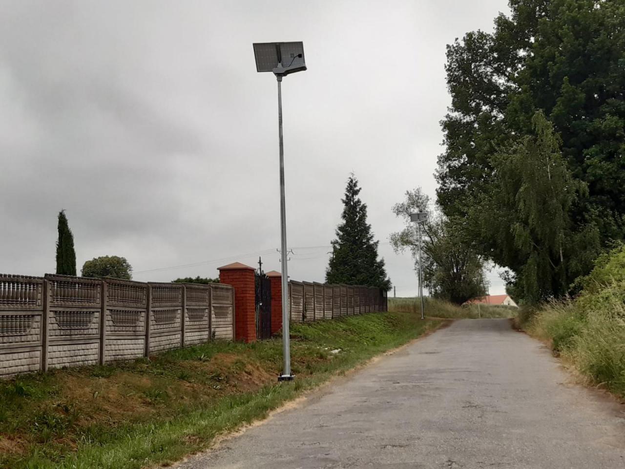 Nowe lampy solarne w gminie Ząbkowice Śląskie