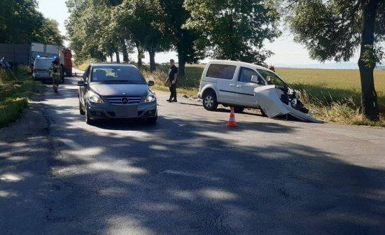 Wypadek na skrzyżowaniu Ziębickiej i Cukrowniczej