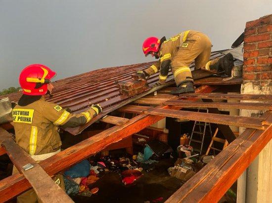 Wyrazy uznania dla strażaków działających podczas nawałnic