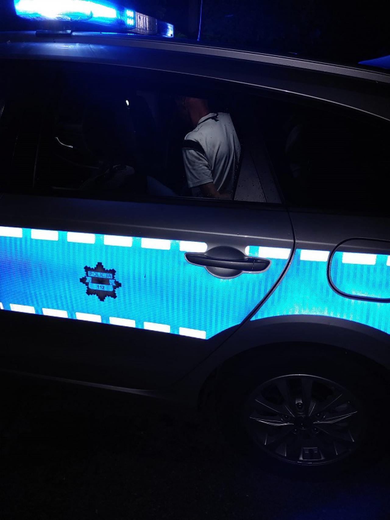 [FOTO] Nietrzeźwy kierowca wjechał w przydrożne krzaki