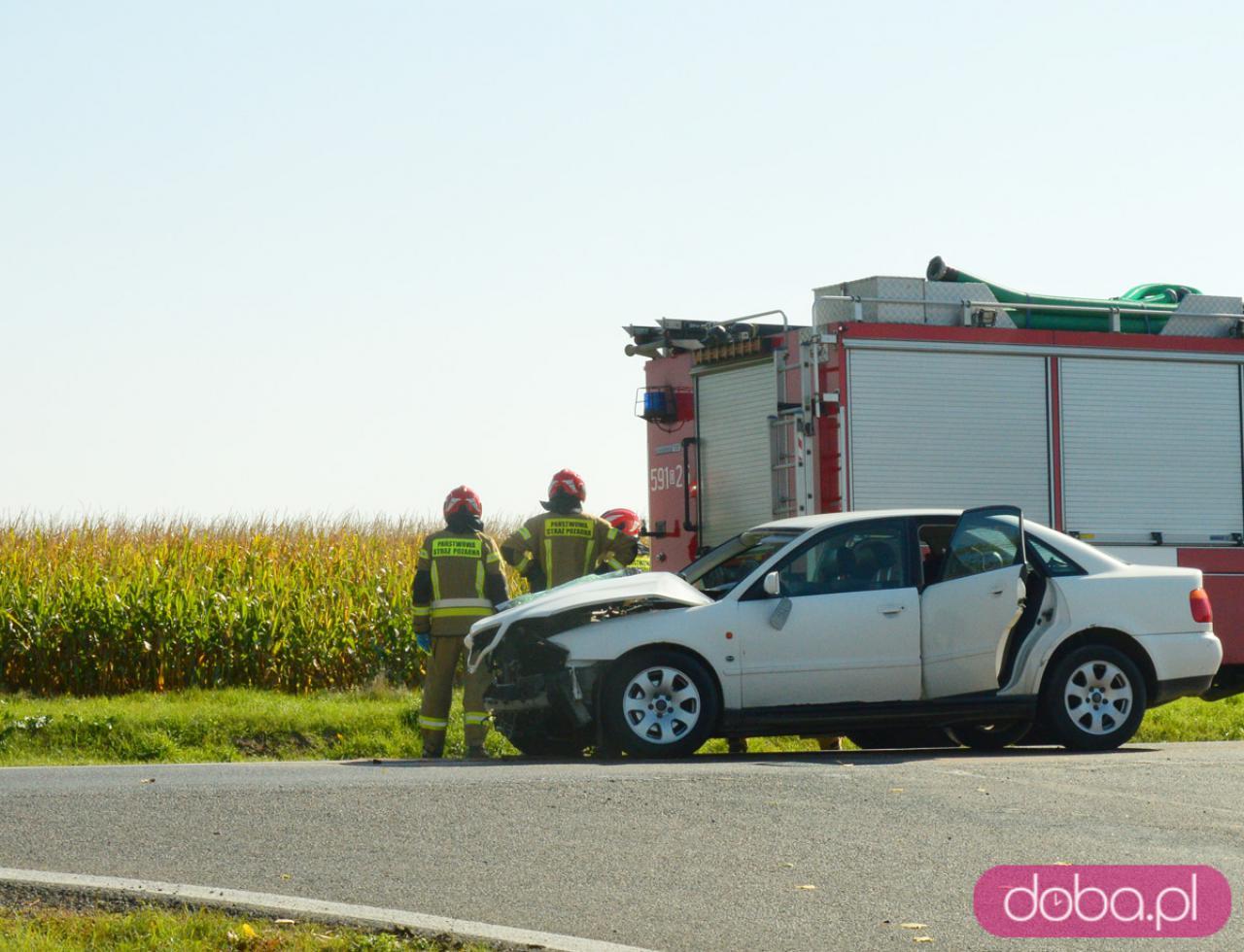 Wypadek na skrzyżowaniu dk8 i zjazdu na Tarnów