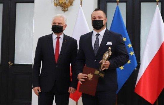 Ratownik ząbkowickiego pogotowia nagrodzony przez Ministra Zdrowia